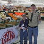 Scouts of all ages work the Fall Food Drive